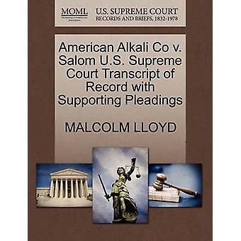 American Alkali Co V. Salom U.S. Supreme Court Transcript of Record w
