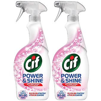 2pk Cif Power & Shine with powerful Anti-bac Multi-purpose Cleaner Spray, 700ml