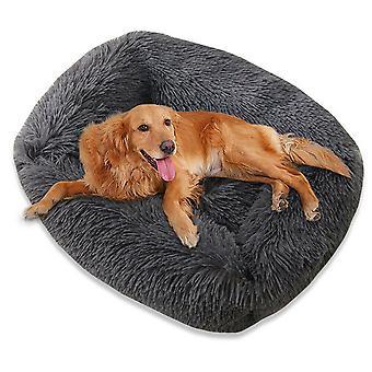 Pet Dog Cat Calming Bed Fluffy Warm Easy Clean Rectangle Nest Mattress Cushion