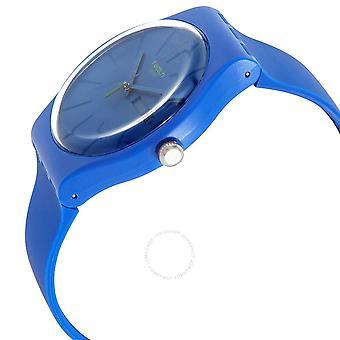 Swatch BELTEMPO Quarz blau Zifferblatt Männer's Uhr SO29N700