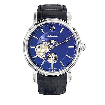 Mathey-Tissot Skeleton Automatic Blue Dial Men's Watch H7050ABU2