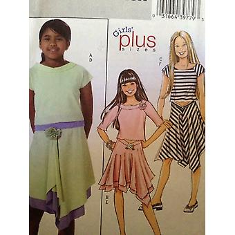 Butterick نمط الخياطة 4546 الفتيات الأطفال أعلى تنورة حجم 7-14 غير المصقول