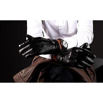Men's faux leather touchscreen gloves