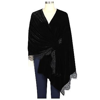 Chic Star Plus Size Pitsi varasti Cape Blackin