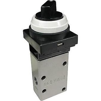 SMC Red Push Button Manual Control Valve, Aluminium Alloy 1/8In Rc, -5 To +60C