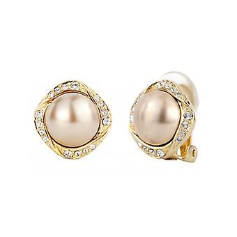 Traveller Clip Earrings - Bronze Pearls - 22ct Gold Plated - 114199 - 811