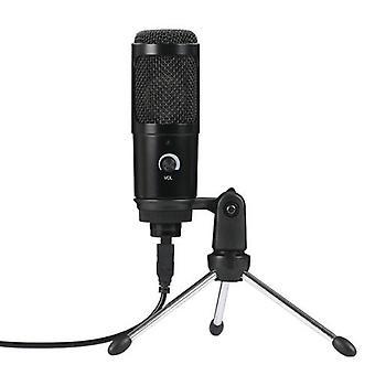 USB Plug-and-Play kondensator dynamisk mikrofon Mic med Mini stativ