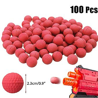 100pcs 2.3cm Pu Buoyancy Rounds Bullet Balls Kids Toy Ball For Hunting Garden