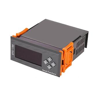 Kaikenkattava korkean tarkkuuden DC 12V LED digitaalinen lämpötilansäädin Termostaatti 2 releet NTC-anturilla °C&°F Lämpötilahälytys
