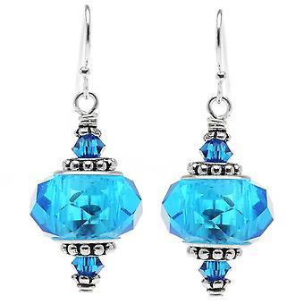 Talia Øreringe (blå) - Eksklusiv Beadaholique smykker Kit
