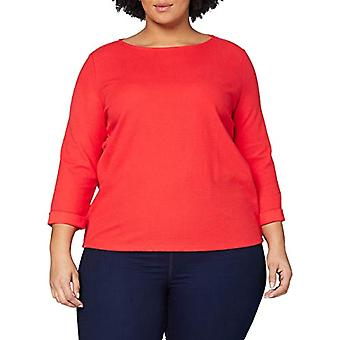 Tom Tailor Struktur T-Shirt, 11025/Strong Red, M Woman