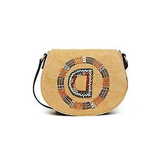 Desigual Bols_Brown السكر ريغالي - حقيبة الكتف للنساء، اللون: أبيض