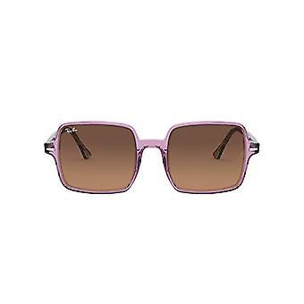 Ray-Ban Square II Brille, Transparent Lila/Grau Havanna, 53 Unisex-Erwachsene