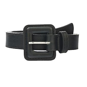 Ladies Fashion Leather Waist Belt For Jeans Double Ring Pearl Buckle