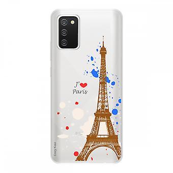 Samsung Galaxy A02s :n kansi joustavassa silikonissa 1 mm, Pariisin Eiffel-torni