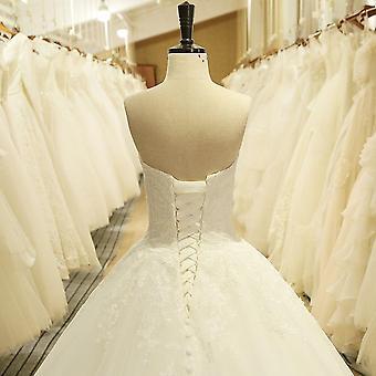 Charming Sweetheart Applique Lace Vintage Vestido de Noiva