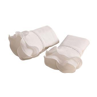 Guantes de puños falsos de manga de bengala plisada