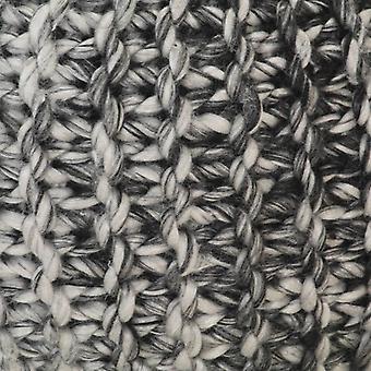 vidaXL Hand gebreide poef Donkergrijs 50 x 35 cm stof wollen optiek