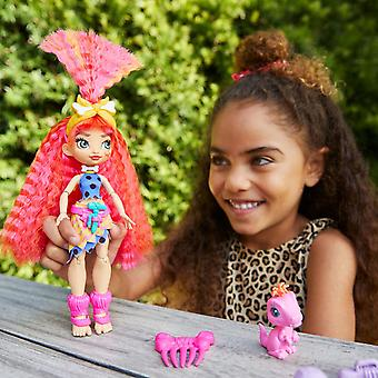 Cave Club Emberly and Roaralai Fashion Doll and Flaire Pet Dinosaur