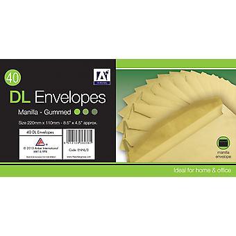 A Star DL Gummed Manila Envelopes Pack 30