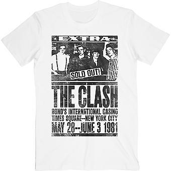 Clash - Bondin 1981 Unisex Pieni T-paita - Valkoinen