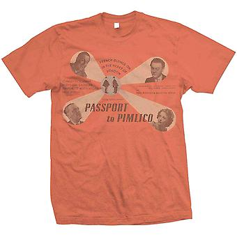 StudioCanal - Passport to Pimlico Unisex X-Large T-Shirt - Orange