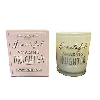 Gisela Graham Amazing Daughter Candle