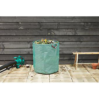 909 OUTDOOR Grüne Gartenabfallsäcke im 2er Set für Garten & Terrasse, 2x Robuste pop up Gartensäcke, 2x Stabiler Laubsack in 76 x Ø 67 cm, selbstaufstellend