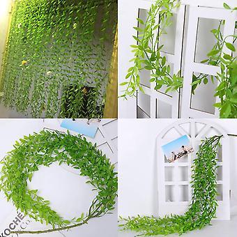 2pcs künstliche hängende Pflanze, 95cm künstliche Pflanzen Efeu Weide Blätter Kunststoff Pflanzen-a