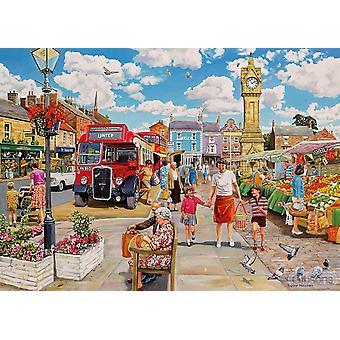 Gibsons Clocktower Market Jigsaw Puzzle (1000 Pieces)