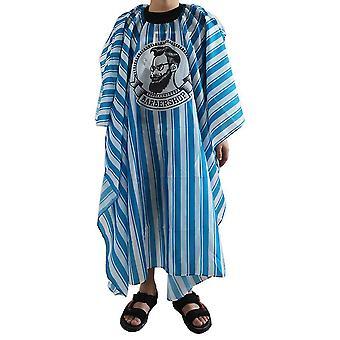 Patrón de rayas Hombre Cara Corte de Pelo Cabo Capa de Pelo Antiestática Capa impermeable Peluquería Salón Peluquería