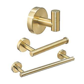 Kultainen kylpyhuone laitteisto sarja kylpytakki yhden pyyhe baarin kylpytakki koukku paperiteline kylpyhuone tarvikkeet