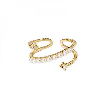 Light Luxury Set Diamond Pearl Multi-layer Contracted Personality Exaggerated Ring