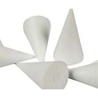 5 polystyreeniä 11cm Kartiojat koristella | Styrofoam-muodot käsityö käyttöön