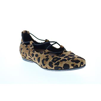 Earthies Adult Womens Essen Printed Leather Ballet Flats