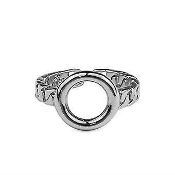 3PCS נחושת עגול טבעת חלולה נקבה אופנה מזג אלגנטי רטרו קלאסי תכשיטים מתנה ליום הולדת