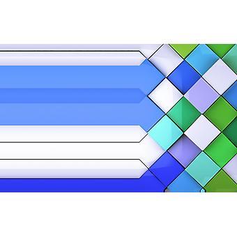 Tapetmaleri flerfargede veggfliser