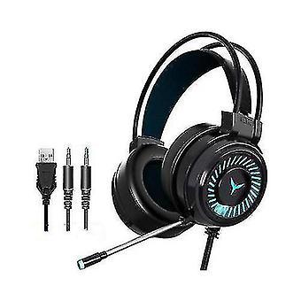 Gaming Headset RGB LED Kabelgebundene Kopfhörer Stereo mit Mikrofon für einen/PS4 PC Xbox