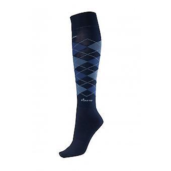 Pikeur Womens Knee Socks - Navy/middle Blue/blue (35/40)