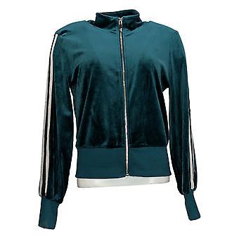Skinnygirl Women's Light Weight Zip-Up Jacket Green 681086