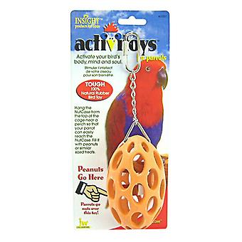 JW Insight Nutcase Rubber Parrot Toy - Nutcase Parrot Toy