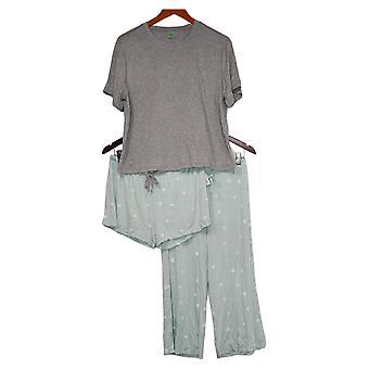 Honeydew Women's Ladies' Palazzo Pajama Set 3-piece Green