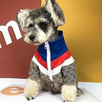 Dog apparel brand dog jacket luxury designer teddy french bulldog chihuahua puppy pet clothes three color for