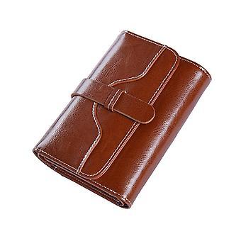 Hochwertige Damen Echtes Leder Geldbörse Weiblich Kurze Rfid Anti Diebstahl Kartenhalter Münze Geldbörse Geldbörsen für Frauen Clutch Tasche