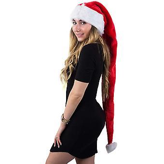 Chapeaux de Père Noël pour adultes, Chapeau de Père Noël extra long, Chapeaux de Père Noël, Nouveauté