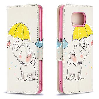 Xiaomi Poco X3 Nfc Fall Muster niedlichen Elefanten