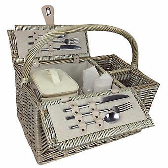 Doppelzimmer Deluxe Retro vakuumiert Wicker 2 Person ausgestatteter Picknickkorb