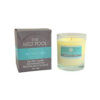 Medium Tumbler Lime, Basil & Orange Candle by The Melt Pool