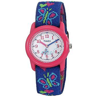 Timex Kids Quarz Schmetterlinge und Herzen Uhr mit weißem Zifferblatt Analog (T89001)