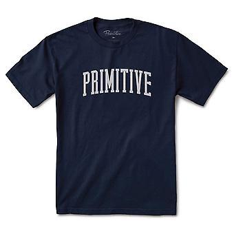 Primitive Apparel Collegiate Arch T-Shirt Navy